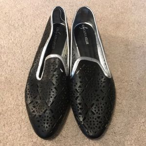 New Olivia Miller laser cut loafers size 6